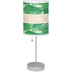 "Tropical Leaves #2 7"" Drum Lamp with Shade (Personalized)"
