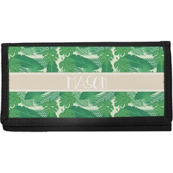 Tropical Leaves #2 Canvas Checkbook Cover w/ Name or Text