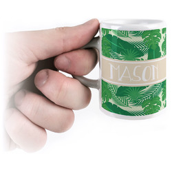 Tropical Leaves 2 Espresso Mug - 3 oz (Personalized)