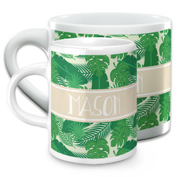 Tropical Leaves #2 Espresso Cups (Personalized)