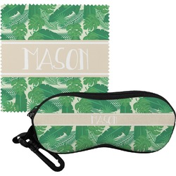 Tropical Leaves #2 Eyeglass Case & Cloth w/ Name or Text