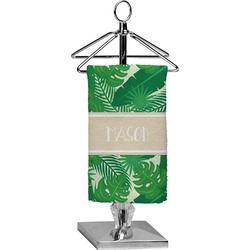 Tropical Leaves 2 Finger Tip Towel - Full Print (Personalized)