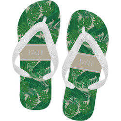 Tropical Leaves #2 Flip Flops (Personalized)