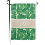 Tropical Leaves #2 Garden Flag - Single or Double Sided (Personalized)