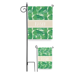 Tropical Leaves #2 Garden Flag (Personalized)