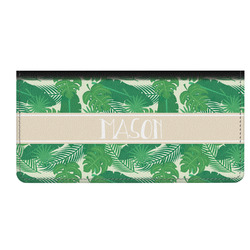Tropical Leaves 2 Genuine Leather Checkbook Cover (Personalized)