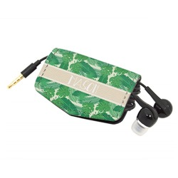 Tropical Leaves 2 Genuine Leather Cord Wrap (Personalized)
