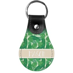Tropical Leaves #2 Genuine Leather  Keychains (Personalized)