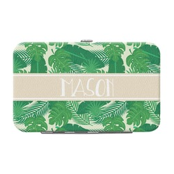 Tropical Leaves 2 Genuine Leather Small Framed Wallet (Personalized)