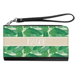 Tropical Leaves 2 Genuine Leather Smartphone Wrist Wallet (Personalized)