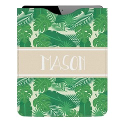Tropical Leaves 2 Genuine Leather iPad Sleeve (Personalized)