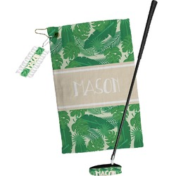 Tropical Leaves #2 Golf Towel Gift Set w/ Name or Text