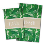 Tropical Leaves #2 Golf Towel - Full Print w/ Name or Text