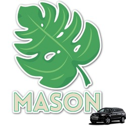 Tropical Leaves 2 Graphic Car Decal (Personalized)
