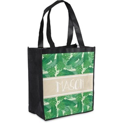 Tropical Leaves 2 Grocery Bag (Personalized)
