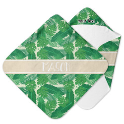 Tropical Leaves 2 Hooded Baby Towel (Personalized)
