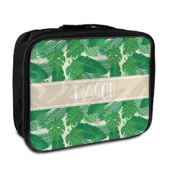 Tropical Leaves #2 Insulated Lunch Bag w/ Name or Text