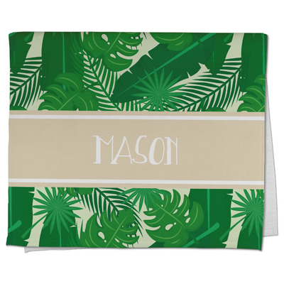 Tropical Leaves #2 Kitchen Towel - Full Print w/ Name or Text