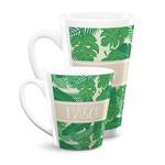 Tropical Leaves #2 Latte Mug (Personalized)