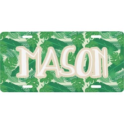 Tropical Leaves 2 Front License Plate (Personalized)