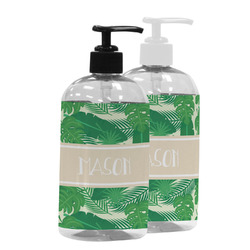 Tropical Leaves #2 Plastic Soap / Lotion Dispenser (Personalized)