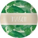 Tropical Leaves #2 Melamine Plate (Personalized)