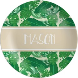 Tropical Leaves 2 Melamine Plate (Personalized)