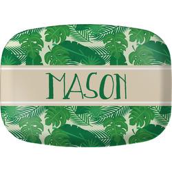 Tropical Leaves 2 Melamine Platter (Personalized)