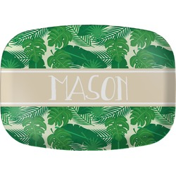 Tropical Leaves 2 Melamine Platter (Personalized)