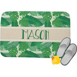 Tropical Leaves 2 Memory Foam Bath Mat (Personalized)
