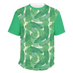 Tropical Leaves #2 Men's Crew T-Shirt (Personalized)