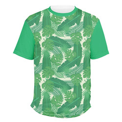 Tropical Leaves 2 Men's Crew T-Shirt (Personalized)
