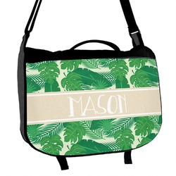 Tropical Leaves 2 Messenger Bag (Personalized)