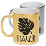 Tropical Leaves #2 Metallic Mug (Personalized)