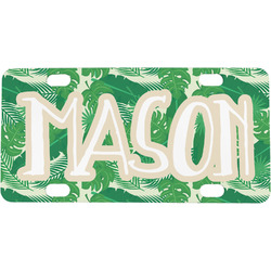 Tropical Leaves 2 Mini / Bicycle License Plate (Personalized)