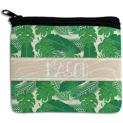 Tropical Leaves #2 Rectangular Coin Purse w/ Name or Text