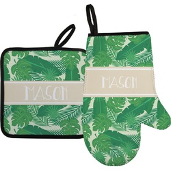 Tropical Leaves 2 Oven Mitt & Pot Holder (Personalized)