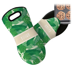 Tropical Leaves 2 Neoprene Oven Mitt (Personalized)