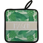 Tropical Leaves 2 Pot Holder (Personalized)