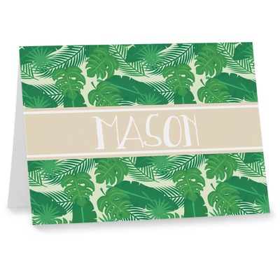 Tropical Leaves #2 Note cards w/ Name or Text