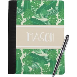 Tropical Leaves #2 Notebook Padfolio w/ Name or Text