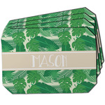 Tropical Leaves #2 Dining Table Mat - Octagon w/ Name or Text