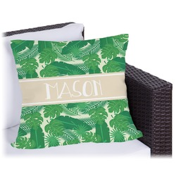 Tropical Leaves 2 Outdoor Pillow (Personalized)