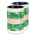 Tropical Leaves #2 Ceramic Pencil Holder - Large