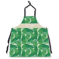 Tropical Leaves #2 Apron Without Pockets w/ Name or Text