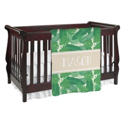 Tropical Leaves #2 Baby Blanket (Personalized)