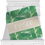 Tropical Leaves #2 Minky Blanket (Personalized)