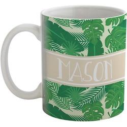 Tropical Leaves 2 Coffee Mug (Personalized)