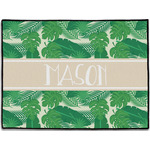 Tropical Leaves #2 Door Mat (Personalized)