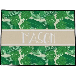 "Tropical Leaves 2 Door Mat - 24""x18"" (Personalized)"
